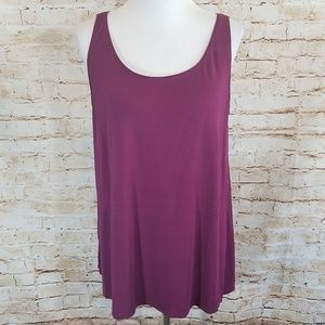 Eileen Fisher Purple Boysenberry Silk Cami Tank